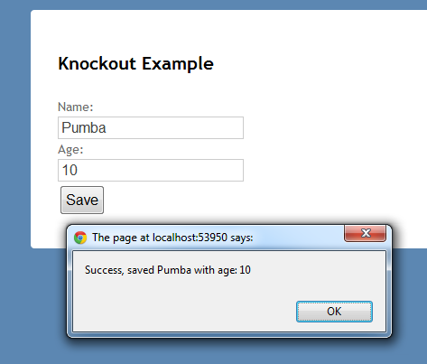 Automatic mapping with Knockout.js, the mapping plugin and ASP.NET on